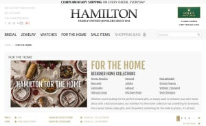 Ecommerce Web Design for Hamilton Jewelers: For the Home Category Page