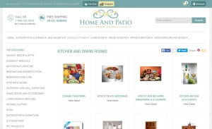 Responsive Ecommerce Design for Home and Patio Decor Center: Category Page