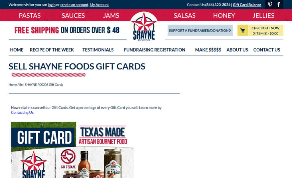 Shayne Foods Custom Ecommerce Site Design