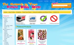 Online Baby Wear Ecommerce Site Design: Category Page