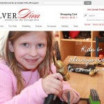 The Silver Diva Ecommerce Design Screenshot: Home Page