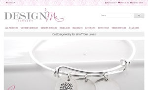 Design Me Jewelry Ecommerce Site Design: Home Page