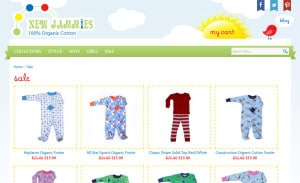 Opencart Web Design ForNew Jammies: Category Page